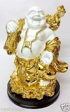 """Golden Big Buddha Happy Man Chinese FengShui Kuberar Statue Vastu 12"""" - 30.48cm"""