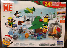 NEW! Mega Bloks Minions Despicable Me Advent Calendar Blocks 221 pcs Lego Set
