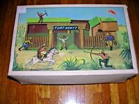 Fort Kenty Wooden Playset Lundby Toy West Germany Vintage 50s complete in box