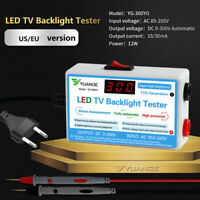 LED LCD Backlight Tester TV Meter Repair Tool Lamp Beads Strip with Power Cable