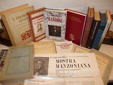 MANZONIANA - 14 volumi Alessandro MANZONI Promessi Sposi, Mostra Adelchi Critica
