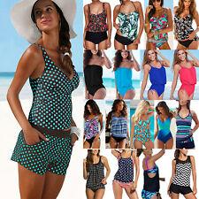 Women Sporty Tankini Set Bikini Beach Swimwear Swimsuits Swimming Bathing Suit