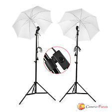 190W Kit de iluminación Paraguas de Estudio Fotografia Lampara Bombilla de Luz