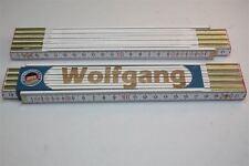 Zollstock mit  NAMEN      WOLFGANG     Lasergravur 2 Meter Handwerkerqualität