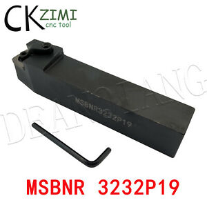 75° MSBNR 3232P19 32×170mm Right Lathe External Turning Tool Holder,For SNMG1906