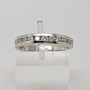 Fabulous 9ct White Gold 50pts Diamond Eternity Ring. Goldmine Jewellers.