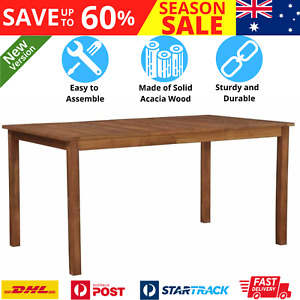 Wooden Garden Dining Table High Quality Acacia Wood Patio Outdoor Furniture