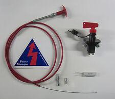 Set FIA Batterietrennschalter 6-polig Bowdenzug Aufkleber Not-Aus Natoknochen
