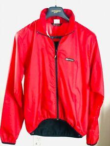 Louis Garneau Mens Medium Red Reflective Full Zip Lightweight Cycling Jacket(s)
