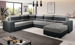 Sofa Couch Garnitur Sofagarnitur CHIEF U mit Schlaffunktion Wohnlandschaft NEU