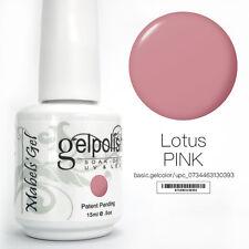 15ml Mabel's Gel Nail Art Soak Off Color UV Gel Polish UV Lamp - Lotus Pink