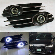 Direct Fit Audi A6 C7 2012-15 LED DRL Daytime Fog Light projector+angel eye Kits
