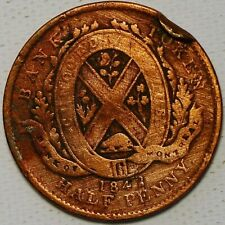 1/2 Penny 1842 Bank of Montreal Canada G522