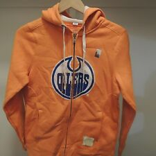 NHL Authentic Edmonton Oilers Retro Sport Zip Hooded Sweatshirt New Womens SMALL