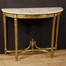 Console francese dorata a mezzaluna mobile tavolo tavolino in legno stile antico