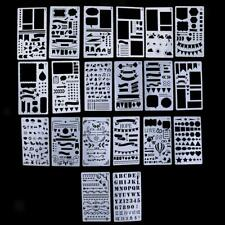 20 Pièces Plastique Journal Pochoirs Modèle de Dessin pour Planificateur /