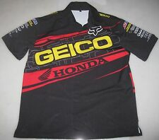 '11 GEICO HONDA AMSOIL FACTORY CONNECTION RACING EMPLOYEE PIT SHIRT L supercross