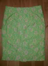 LILLY PULITZER Hyacinth Lace Skirt size 6 green pink pencil FREE SHIPPING!