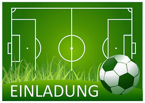 12 Fussball Einladungskarten Kindergeburtstag Geburtstag - Fußball Grill Party
