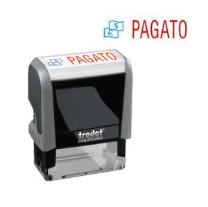 """Timbro autoinchiostrante Trodat Printy Office con scritta """"PAGATO"""""""
