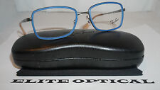RAY BAN RX Eyeglasses New Authentic Blue Gunmetal RB6336 2620 53 18 140
