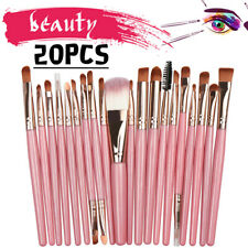 20Pcs Makeup Brushes Set Cosmetic Mermaid Eyebrow Eyeliner Face Lip Pencil Brush