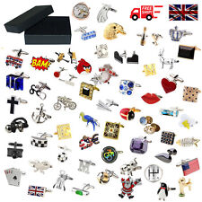 Novelty Quality Classic Sport Animal Cufflinks 183 Designs With Classic Gift Box