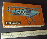 1970s Pyro USA 1:48 Hawker Fury Bi-Plane Fighter. Factory Sealed Bag. Very Fine.