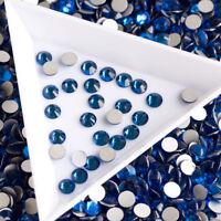 Capri Blue Nail Art Crystal Non Hotfix Flatback Rhinestones 3D Decoration Stones