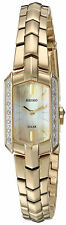 Seiko Women's Tressia Diamond Accents Gold Tone Stainless Steel Watch SUP330