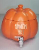 Rae Dunn Orange PUMPKIN SPICE Drink Beverage Dispenser Thanksgiving Family Party