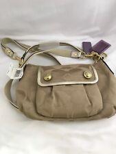 NWT Coach 13833 Signature Poppy Tan/Gold Crossbody Shoulder Bag