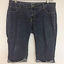 WOMEN'S SOUNDGIRL Capris Denim Jeans Medium Wash JUNIOR Size 17