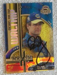 Nascar Star Michael Waltrip Signed 2004 Press Pass Eclipse Maxim Card