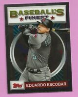 2020 Topps Baseball Finest Flashback Eduardo Escobar #22 Arizona DIamondbacks