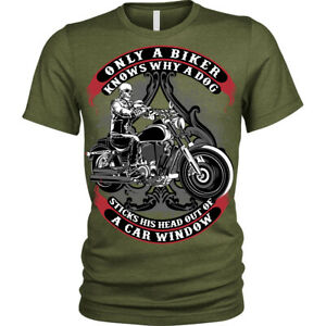 Only A Biker T-Shirt funny motorcycle motorbike Unisex Mens