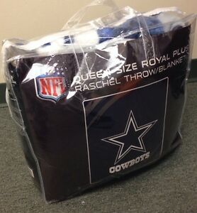 Authentic NFL Dallas Cowboys  Blanket Available in Kings or Queens FAST SHIPPING