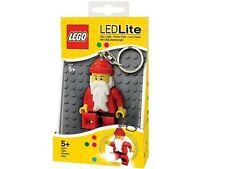 LEGO SANTA LED LITE Christmas Minifigure Flashlight Light Keychain NEW