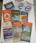 Job Lot Vintage 1950s 60s US Road State Sheet Maps Canada NY Boston illinois NJ