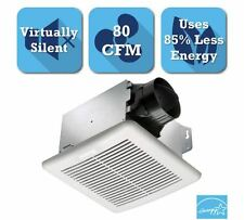80 CFM Bathroom Ceiling Exhaust Bath Fan 0.8 Sones Ultra Quiet Energy Efficiency