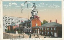 Vintage Postcard 1922 - Independence Hall, Philadelphia to Turku Finland