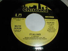 Walter Jackson 45 IT'S ALL OVER Chi-Sound PROMO 1977 Soul Funk R&B MAYFIELD M-