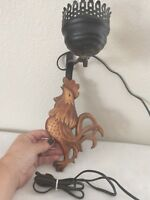 Vintage  Plastic Rooster Wall Lamp/Light Sconce with Metal Hanger & Fixture