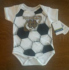 NOTRE DAME FIGHTING IRISH INFANT MVP BODYSUIT SOCCER BALL 0-3 NWT
