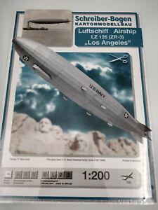 Dirigeable US Navy Los Angeles maquette a monter en carton longueur 100cm,neuve