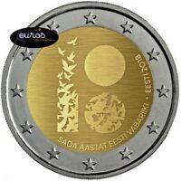 Pièce 2 euros commémorative ESTONIE 2018 - Première Déclaration Indépendance