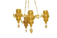 Orthodox Christian Byzantine Chandelier 4 vigil lamp lampadas for Holy Gates