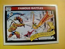 Card Marvel Famous-Battles X-MEN vs FANTASTIC FOUR (1990). Supereroi, comics
