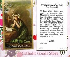 Saint St. Mary Magdalene with Prayer -  Paperstock Holy Card