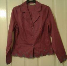 Ventilo La Colline Womens Button Down Blazer Shirt Embroidered UK Size 12
